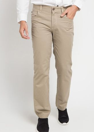 Krem color Celana Panjang Kasual . Emba Classic Mozes One Men's Pants in Cream -