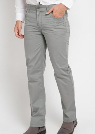 Grey color Casual Trousers and Chinos . Emba Classic Mozes One Men's Pants in Dark Grey -