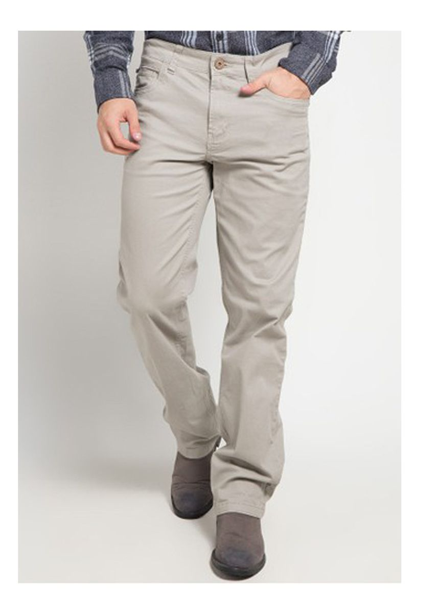 Light Grey color Casual Trousers and Chinos . Emba Classic Men's Pants in Light Grey -