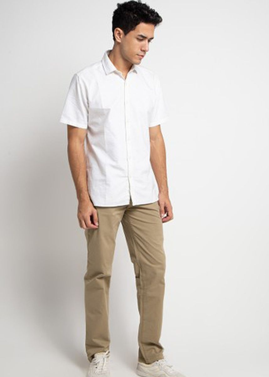 Khaki color Casual Trousers and Chinos . Emba Classic Ariton PFD Men's Pants in Khaki -
