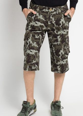 Grey color Shorts & 3/4ths . Emba Classic Slamdo Two Cargo Pants in Dark Grey -