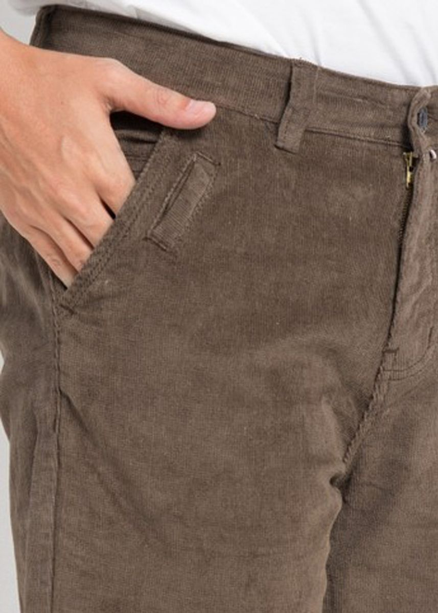 Brown color Casual Trousers and Chinos . Emba Classic Neil Men's Pants in Brown -