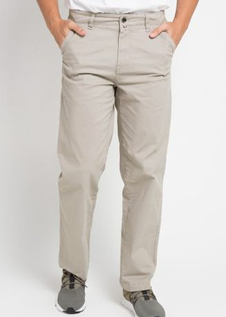 Light Grey color Casual Trousers and Chinos . Emba Classic Prinz Men's Pants in Light Grey -