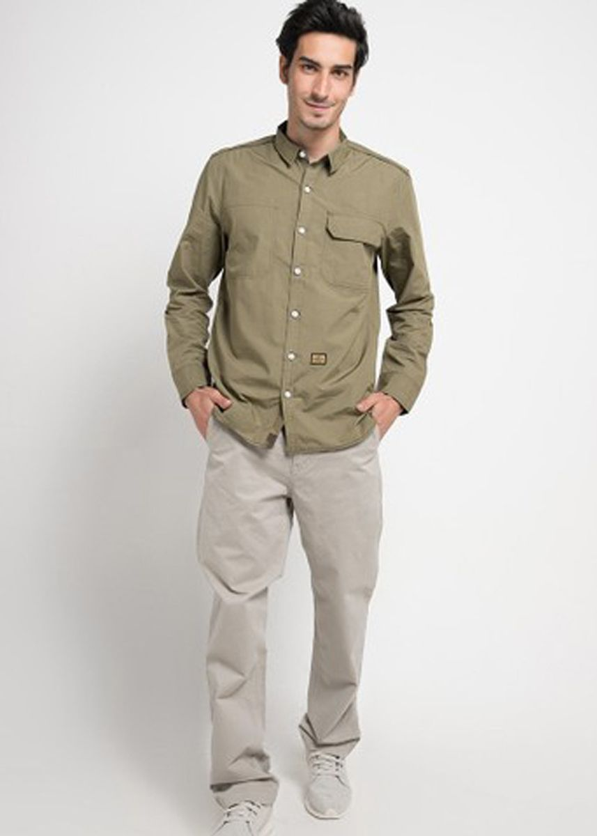 Beige color Casual Trousers and Chinos . Emba Classic Piecasso PFD Men's Pants in Stone -