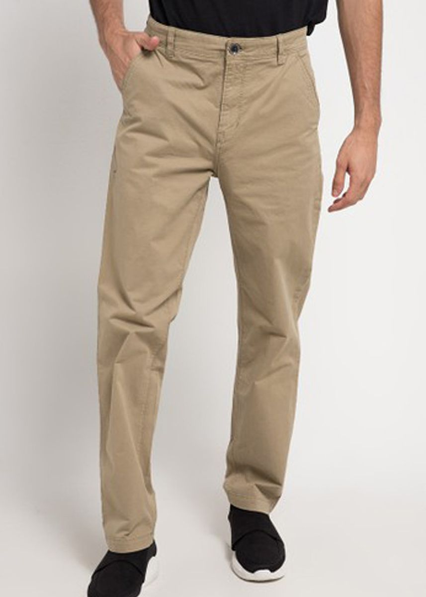 Khaki color Casual Trousers and Chinos . Emba Classic Piecasso PFD Men's Pants in Khaki -