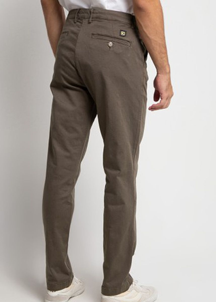 Brown color Casual Trousers and Chinos . Emba Classic Arion One Men's Pants in Brown -