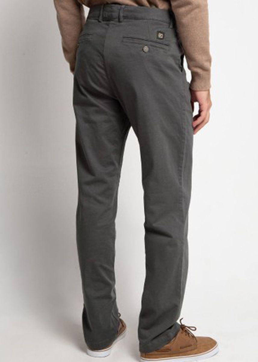 Grey color Casual Trousers and Chinos . Emba Classic Arion One Men's Pants in Dark Grey -