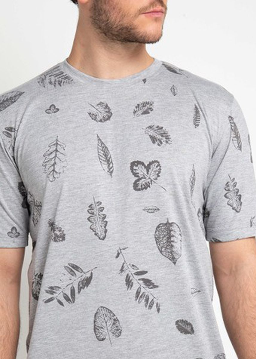 Grey color T-Shirts and Polos . Emba Classic Abayomi T-shirt in Grey -