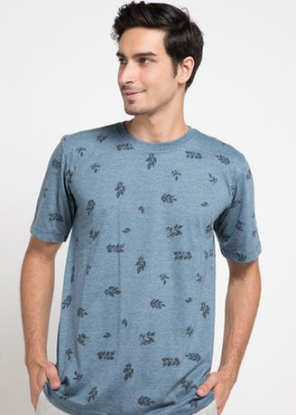 Blue color T-Shirts and Polos . Emba Classic Zachery T-shirt in Blue -