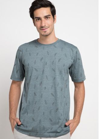 Green color T-Shirts and Polos . Emba Classic Jaasir T-shirt in Green -