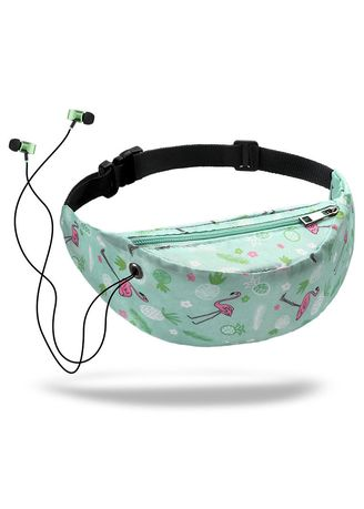 Green color Sling Bags . Women Waist Pack Travelling Mobile Phone Bags -