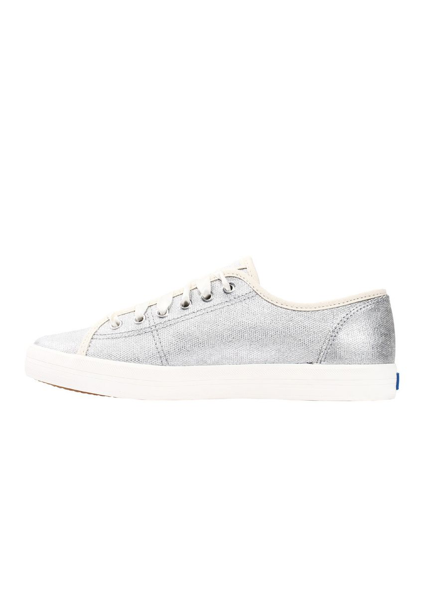Silver color Casual Shoes . Keds Kickstart Brush Metallic Canvas Lace-up Sneakers -