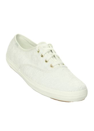 White color Casual Shoes . Keds Champion Eyelet Sneakers -
