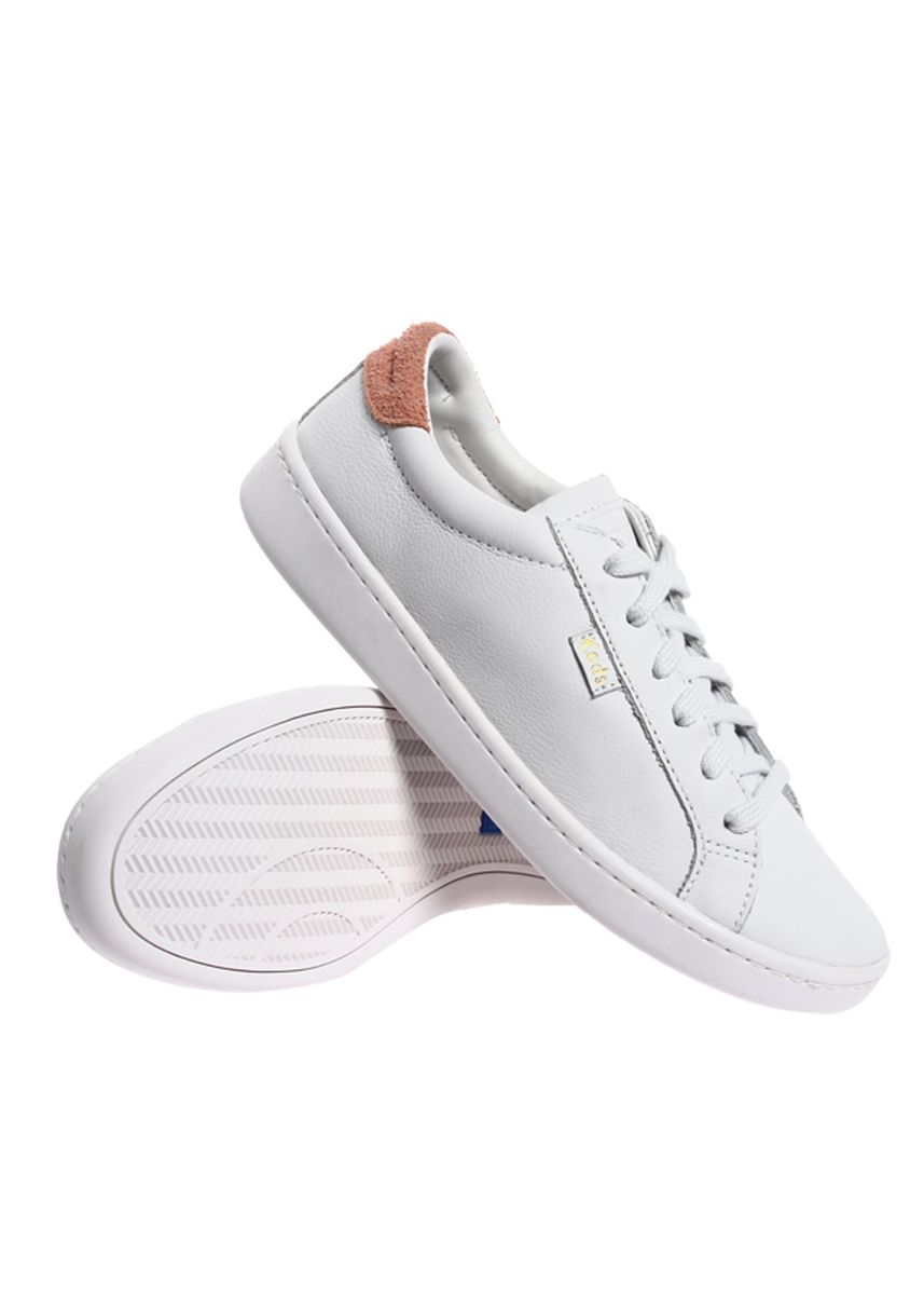 White color Casual Shoes . Keds Ace LTT Leather Lace-up Sneakers -