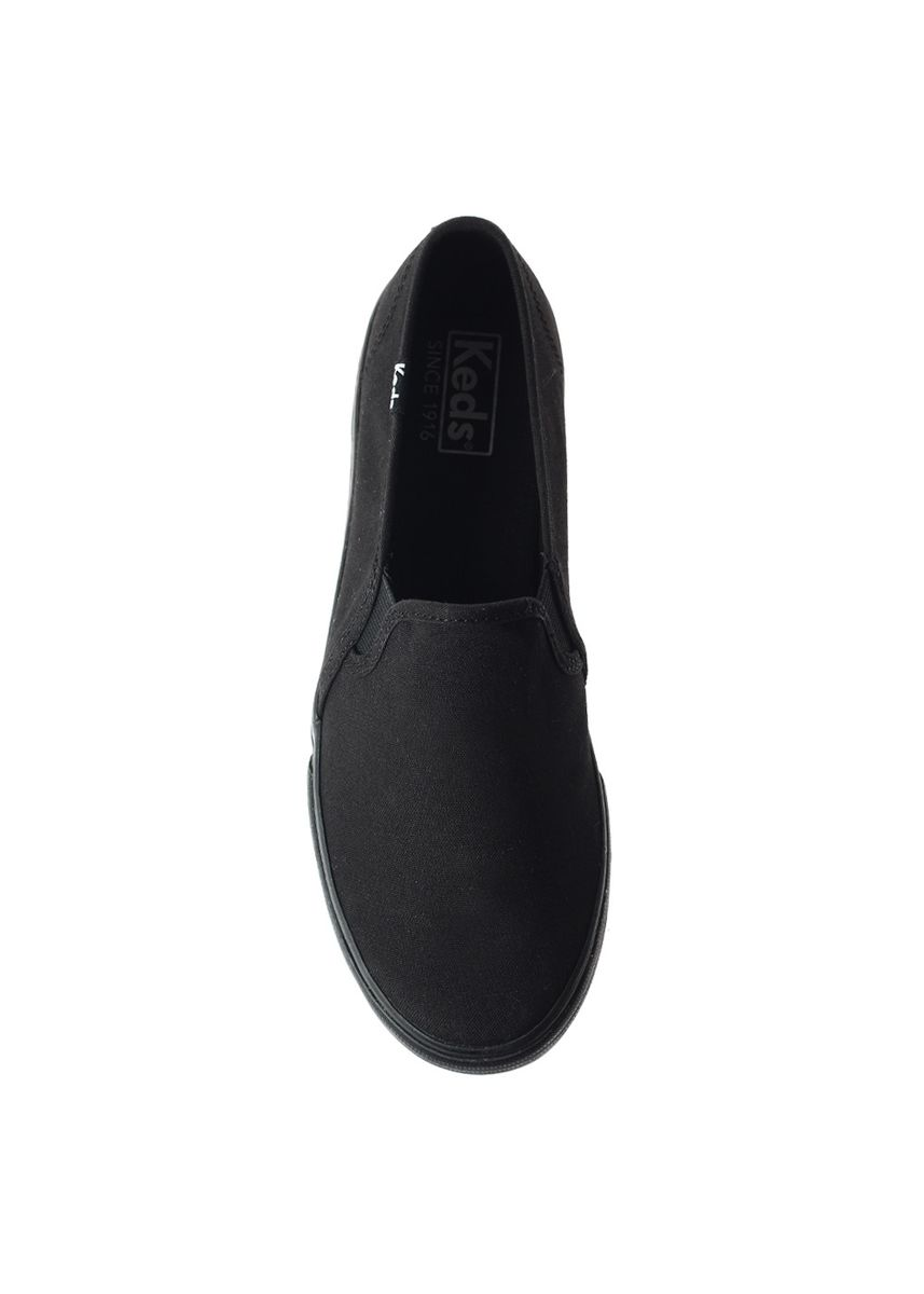 Black color Casual Shoes . Keds Double Decker Canvas Slip-on Sneakers -