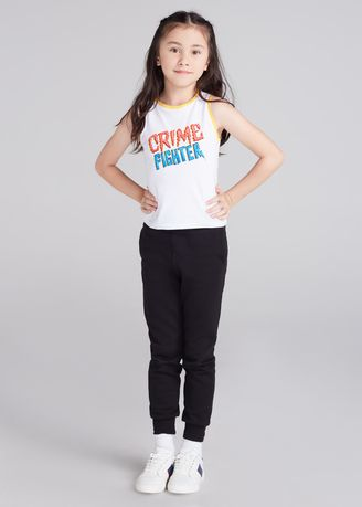 White color Tops . Official Marvel's Spider-Man Slogan Print Tank Top -