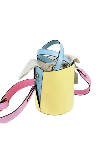 Yellow color Sling Bags . Color Bucket Bag -