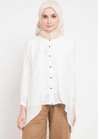 White color Tops and Tunics . Morphidae Aldery Women Blouse -