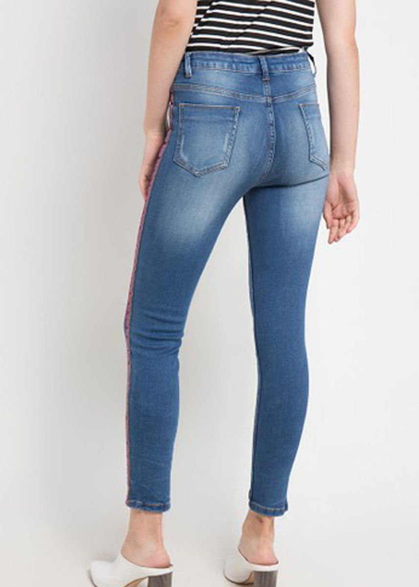 Cyan color Jeans . Morphidae Aster Women Jeans -