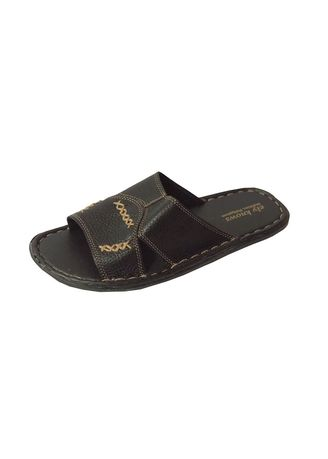 Black color Sandals and Slippers . Ely-Knows Men's Slippers -