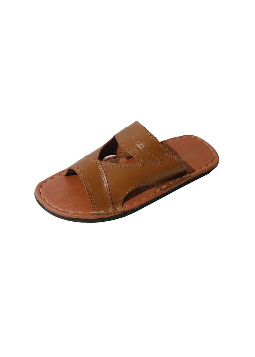 Tan color Sandals and Slippers . Ely-Knows Men's Slippers  -