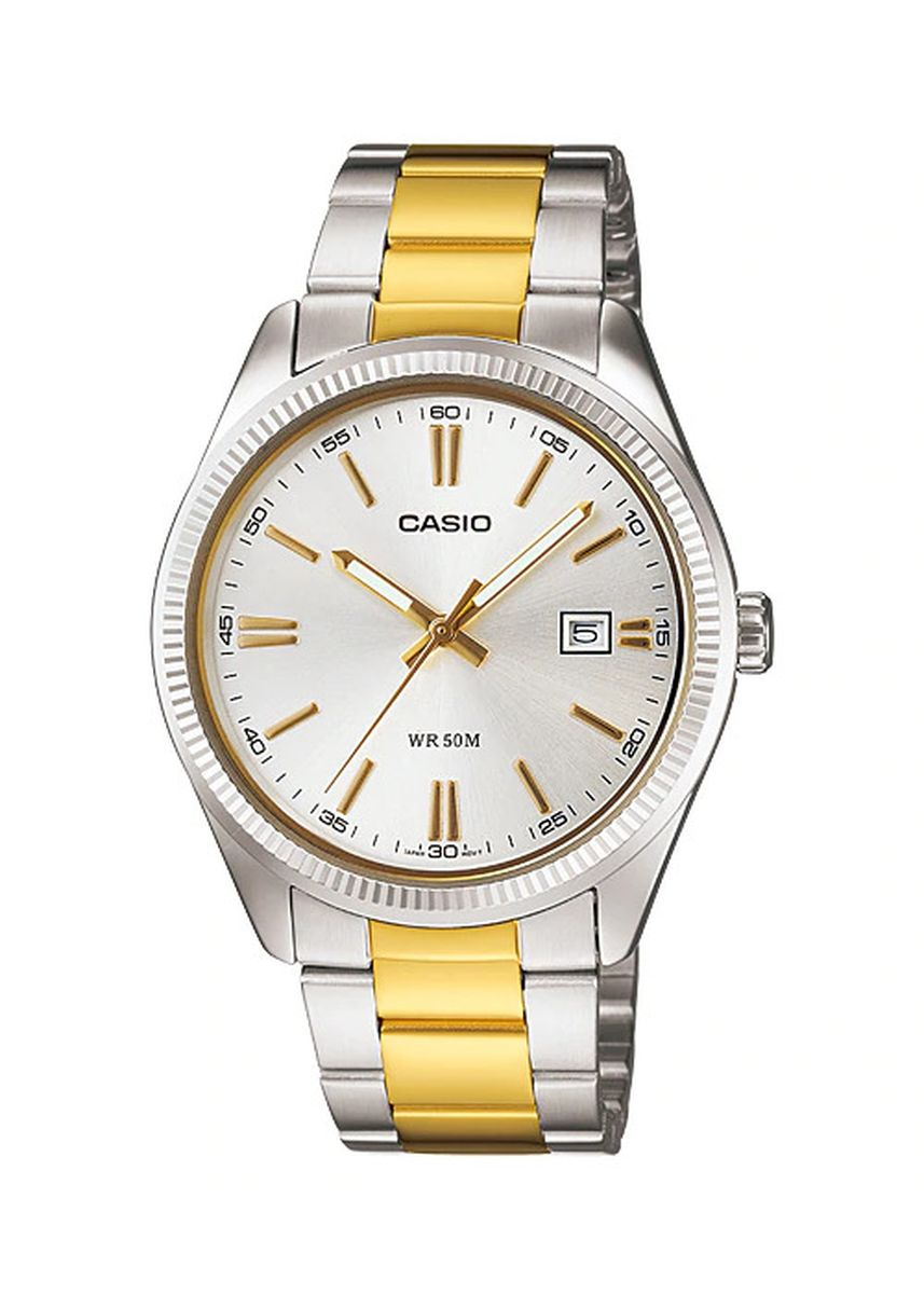 Silver color Analog . Casio Men's Analog Watch -