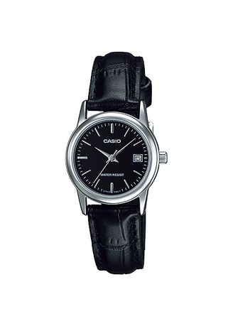 Black color Analog . Casio Quartz Women's Leather Strap Analog Watch -