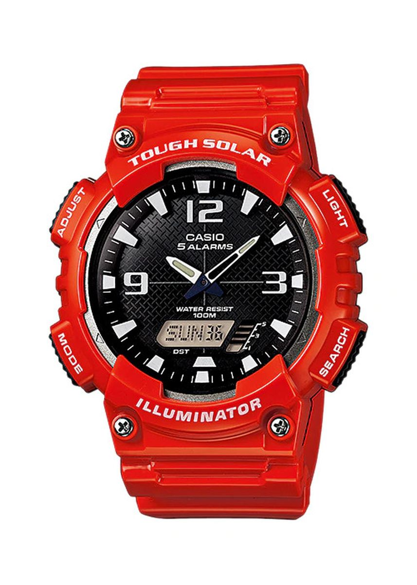 Red color Digital . Casio Solar Men's Digital Watch -