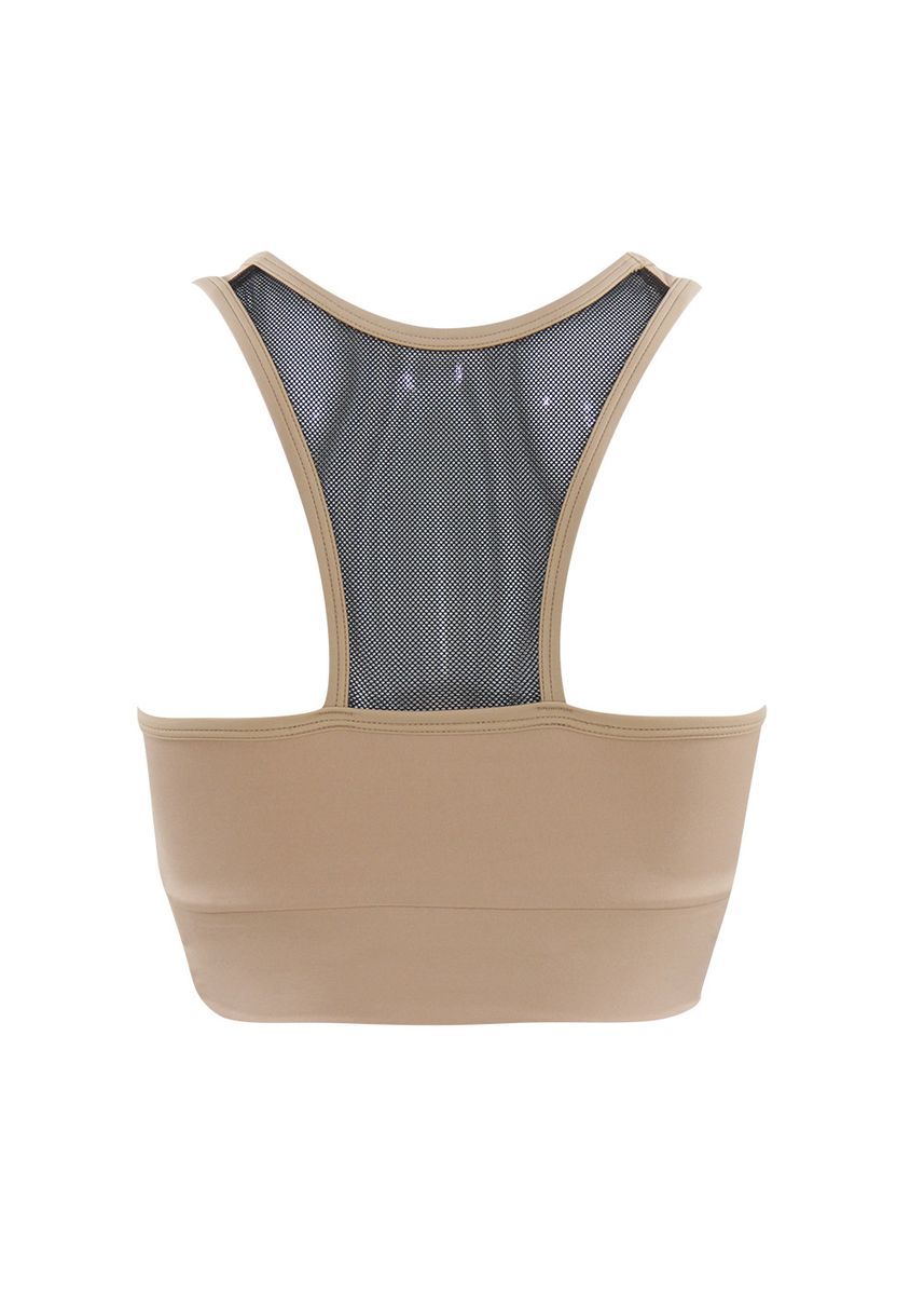 Brown color Sports Wear . Florence Crop Top -