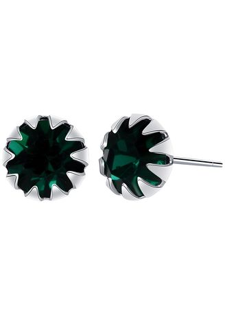 Silver color Other . Silver Kingdom Original 92.5  Italy Silver May Birthstone Earrings -