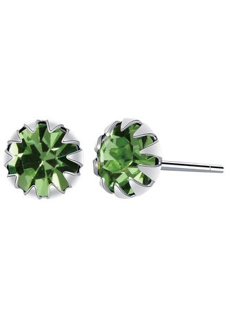 Silver color Other . Silver Kingdom Original 92.5  Italy Silver August Birthstone Earrings -