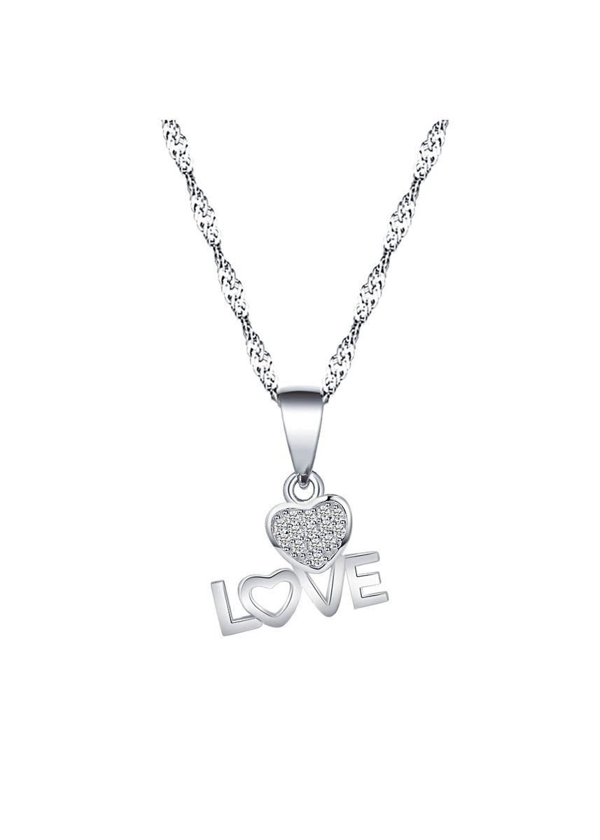 Silver color Other . Silver Kingdom Original 92.5  Italy Silver Love Heart Necklace -