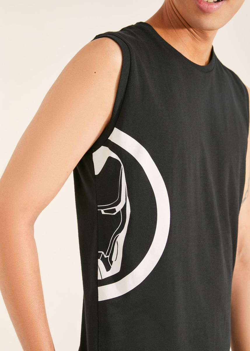 Black color T-Shirts and Polos . Official Iron Man Black Tank Top -
