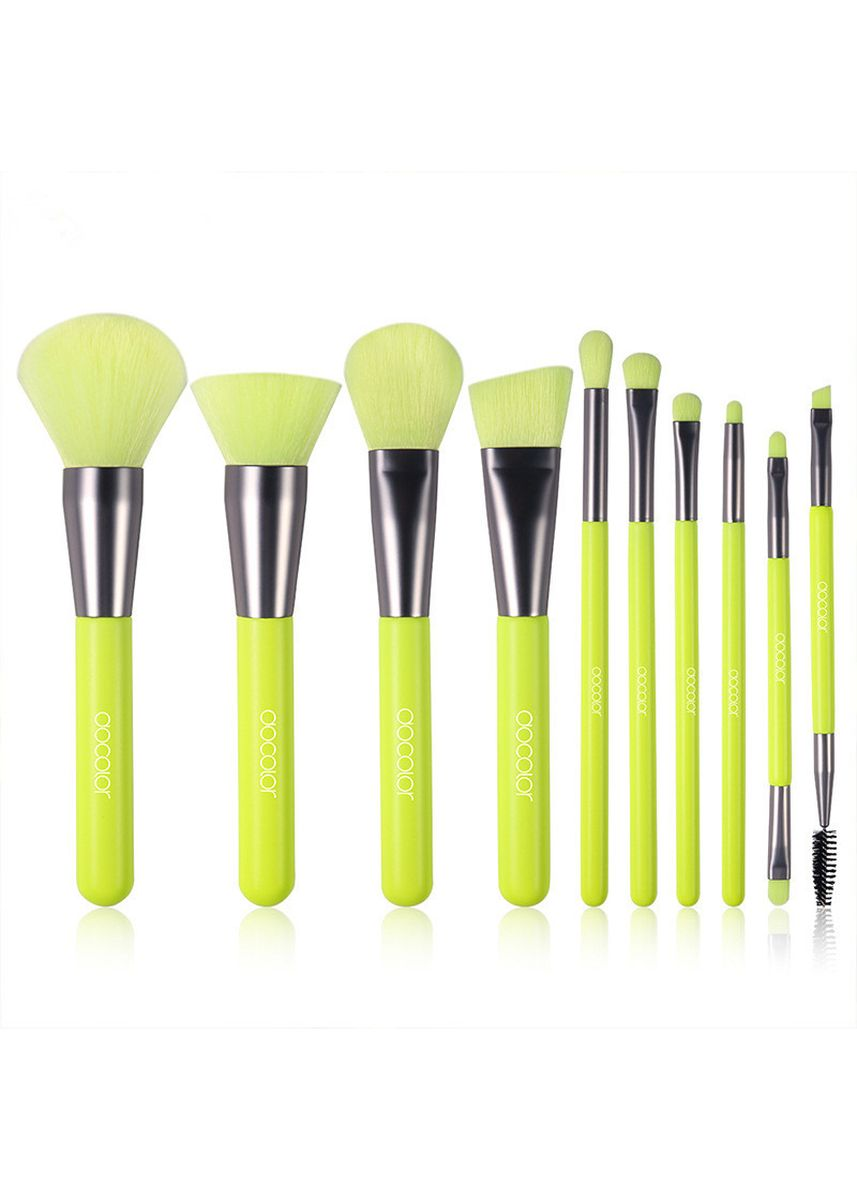 Green color Set & Palette . 10 Sticks Make-Up Brush  -