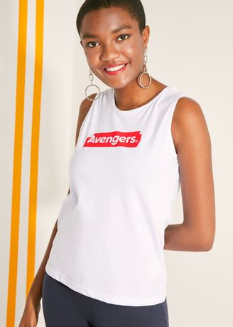 White color Tops and Tunics . Official Marvel's Avengers Label Tank Top -