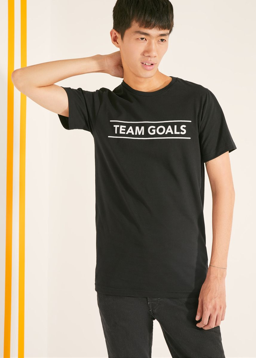 Black color T-Shirts and Polos . Official Marvel's Avengers Team Goals T-Shirt -