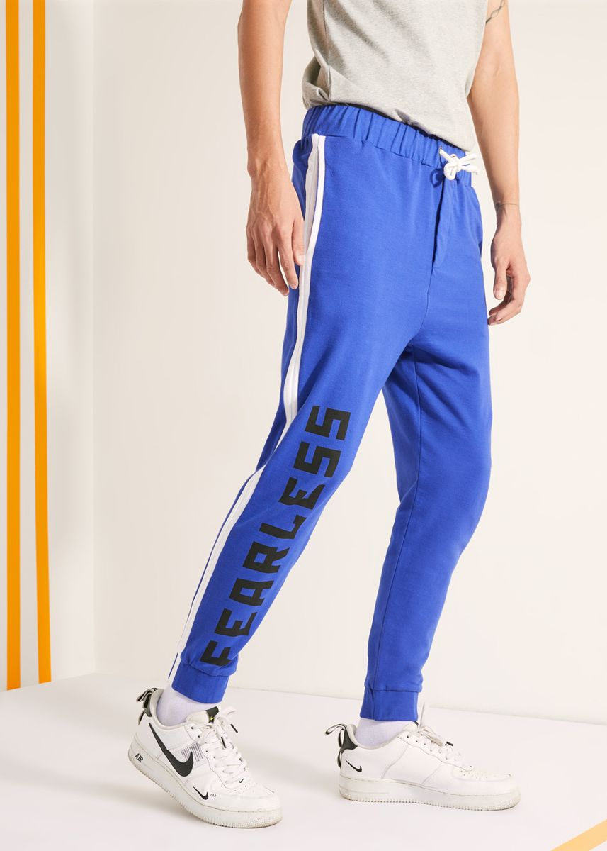 Blue color Casual Trousers and Chinos . Official Marvel's Avengers Fearless Blue Joggers -