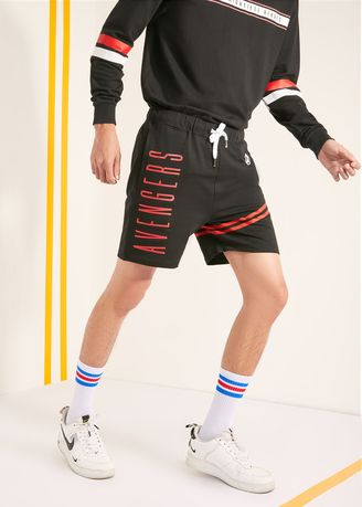 Shorts & 3/4ths . Official Marvel's Avengers Red Lining Shorts -