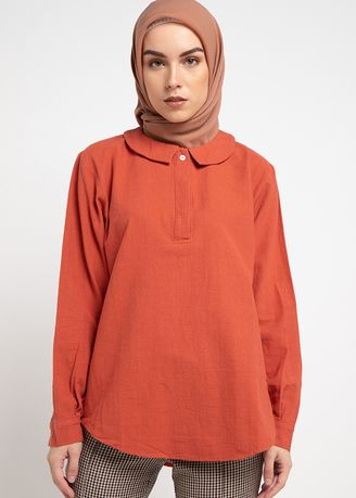 Orange color Tops . RA Hijab - Starla -