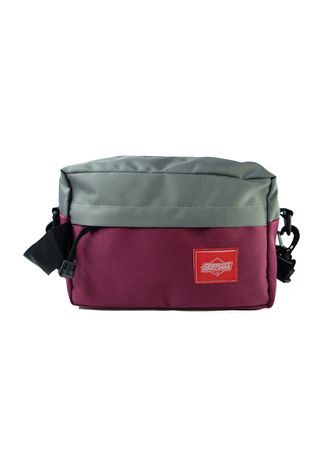 Maroon color Tas Tote . Waistbag 2in1 Pouch Buffatack -