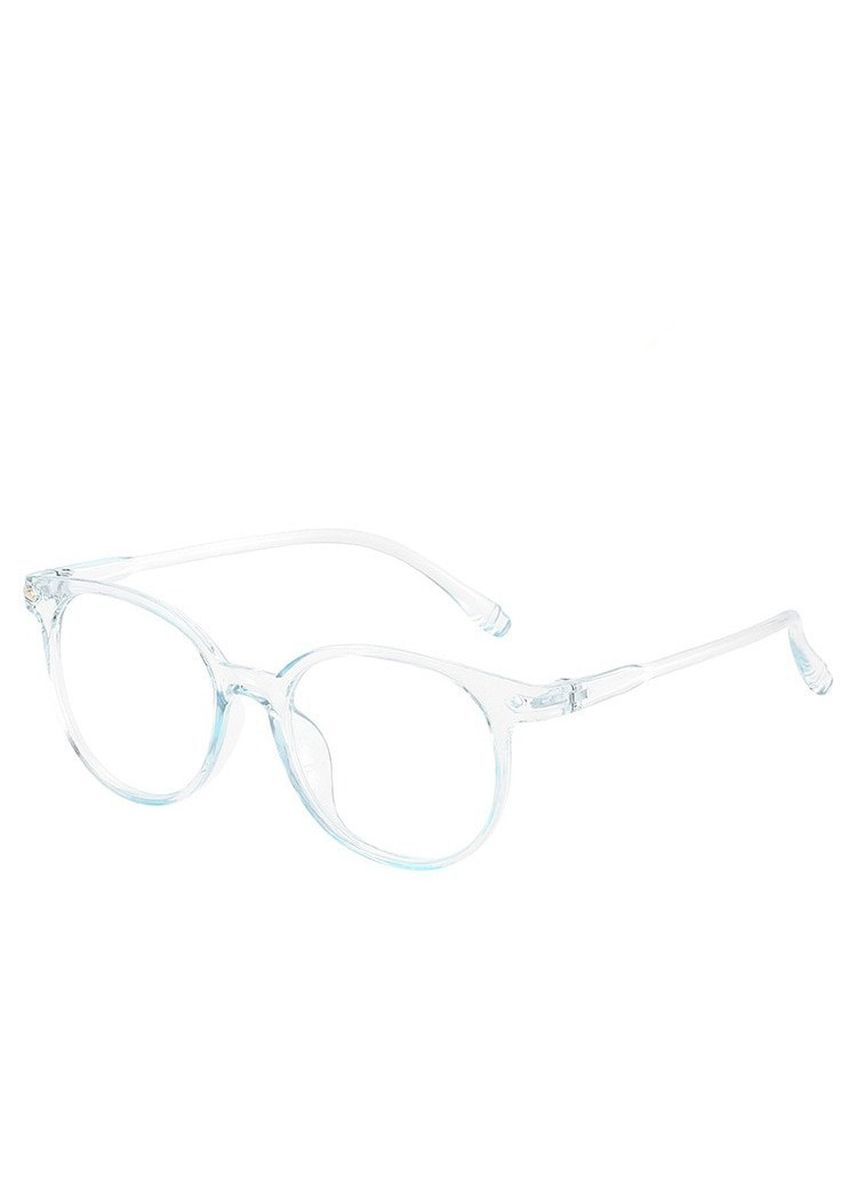 ฟ้า color กรอบ . Fashion Baitao Transparent Glass Frame -