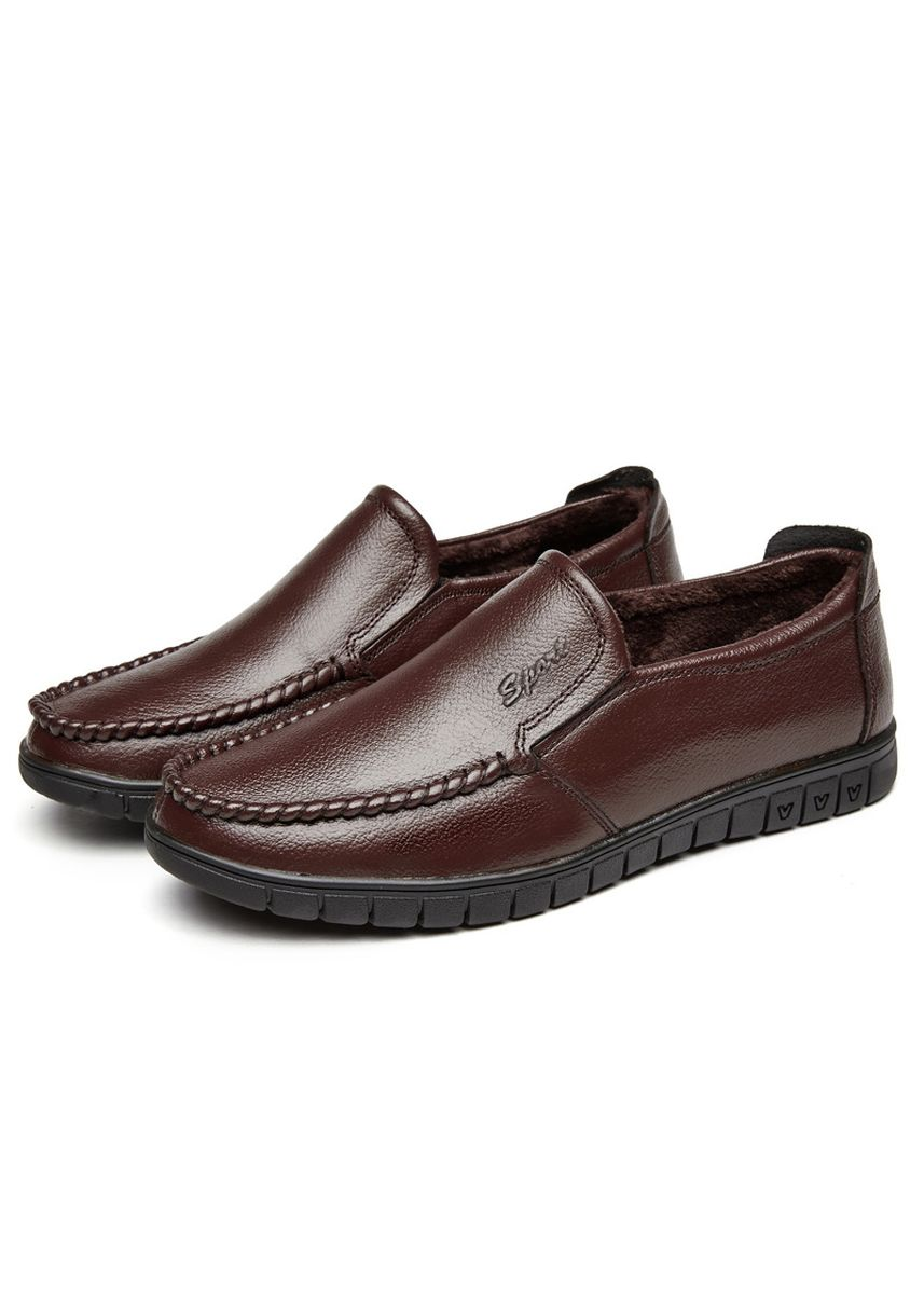 Brown color Formal Shoes . Business Casual Wild Men's Leather Shoes -