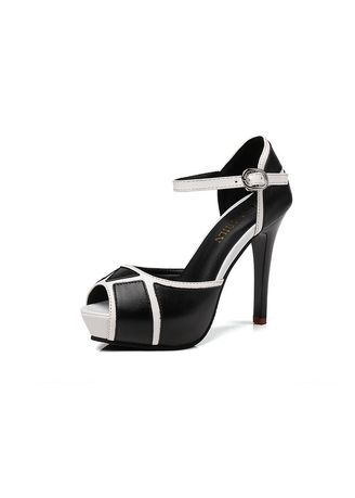 Heels . Fish mouth color matching dinner high heels -