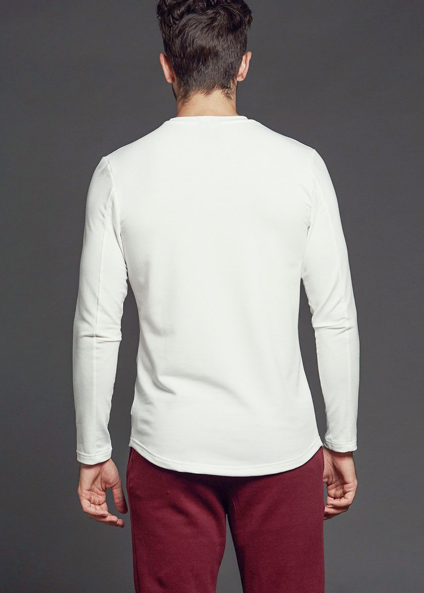 White color Sweatshirts . AvelxAlden Bowery Shirt -