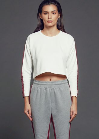 White color Tops and Tunics . AvelxAlden Whitby Crop Top -