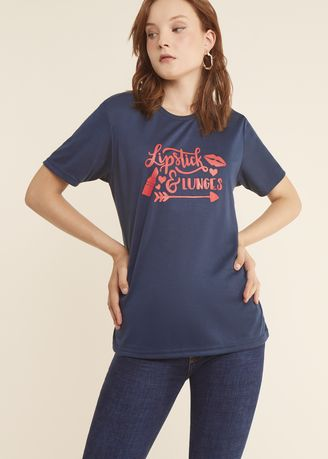 Navy color Tees & Shirts . Lipstick Women Tee -