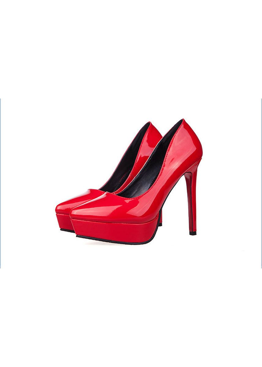 Red color Heels . Fashion Sweet Super High Heel Sexy Pumps -