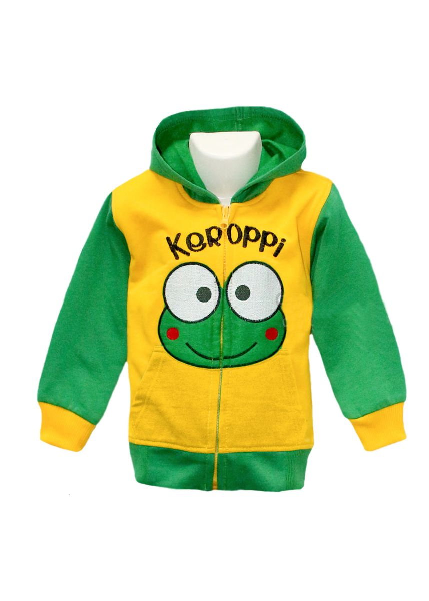 Yellow color Jackets . Jaket Anak Laki-Laki Keroppi Zipper Hoodie -