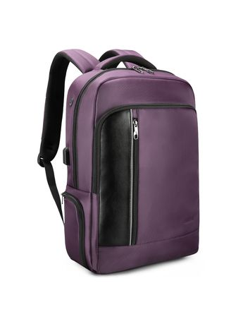"Purple color Backpacks . TigerNu 15.6"" RFID Laptop School Business Backpack with Lock -"