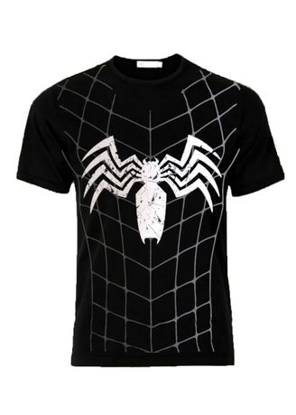 Black color T-Shirts and Polos . Kaos Oblong Spiderman Man Hitam  - Daniyal Distro -